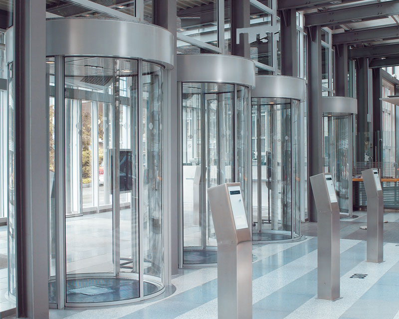 Security Revolving Doors And Security Curved Sliding Doors